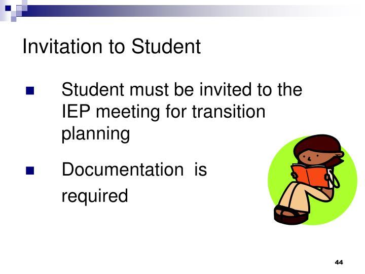Invitation to Student