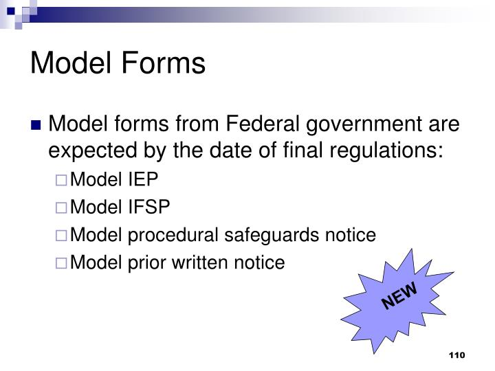 Model Forms