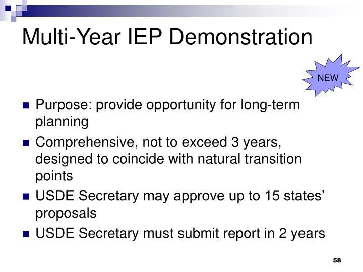 Multi-Year IEP Demonstration