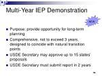 multi year iep demonstration
