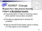 norep change