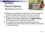 norep parent options2