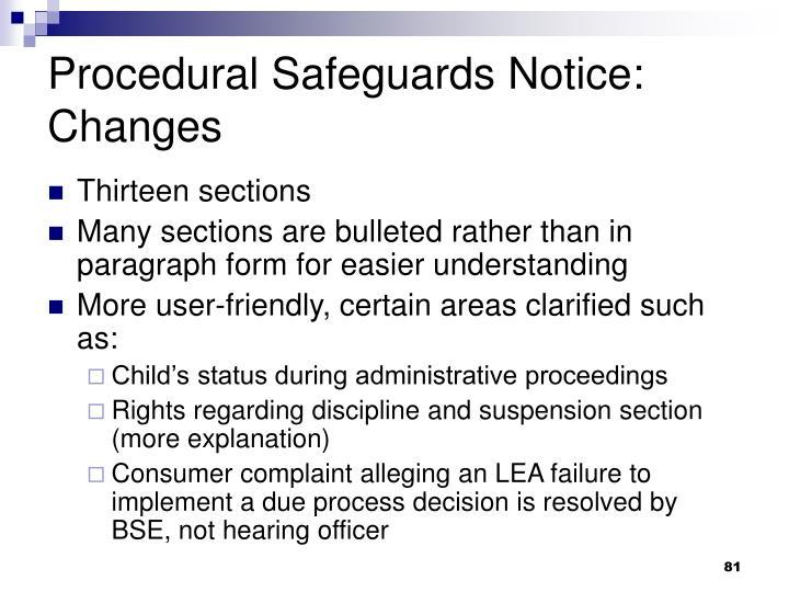 Procedural Safeguards Notice: