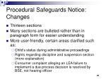 procedural safeguards notice changes
