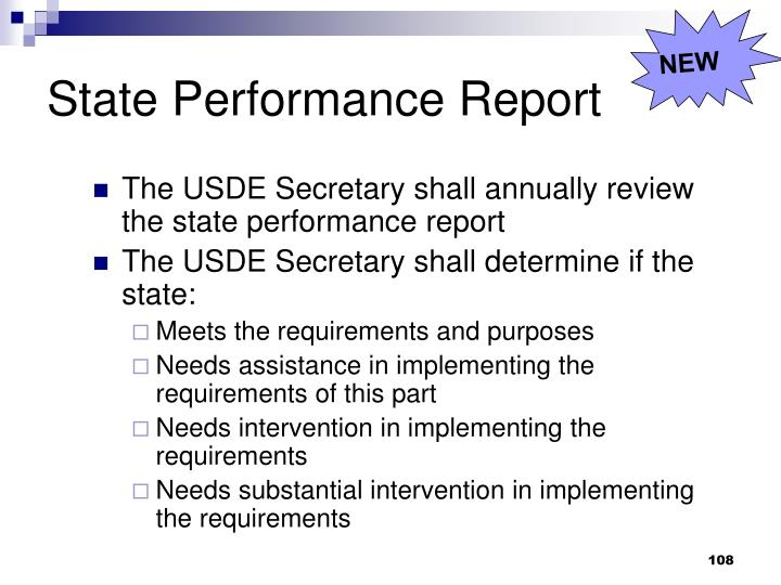 State Performance Report