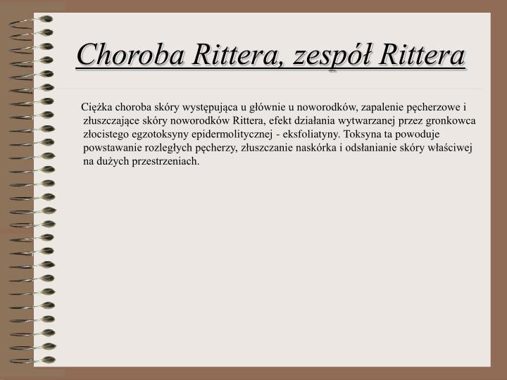 Choroba Rittera, zespół Rittera