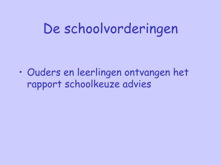 De schoolvorderingen
