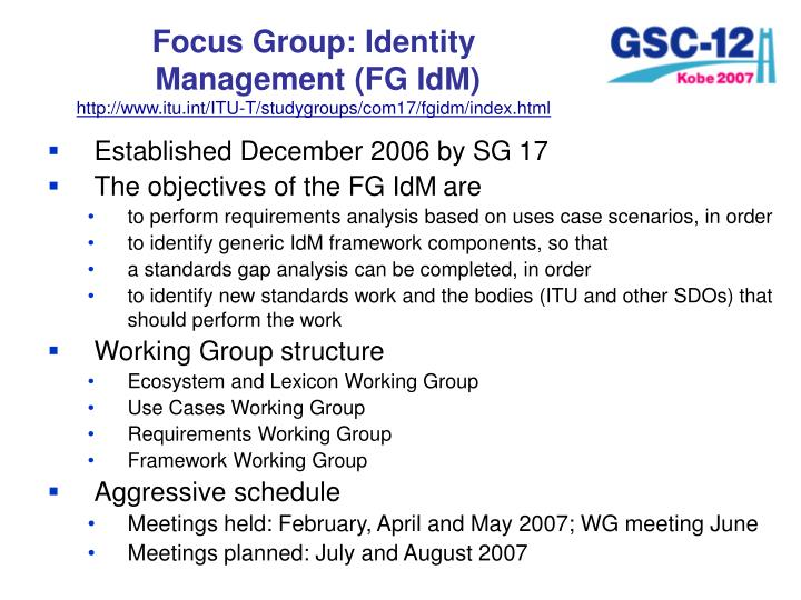 Focus Group: Identity