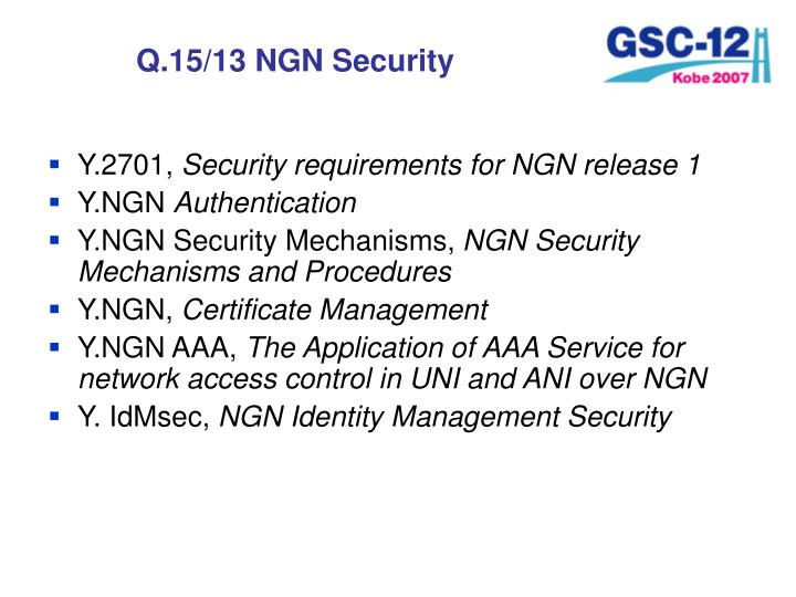 Q.15/13 NGN Security