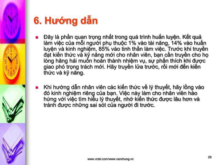 6. Hướng dẫn