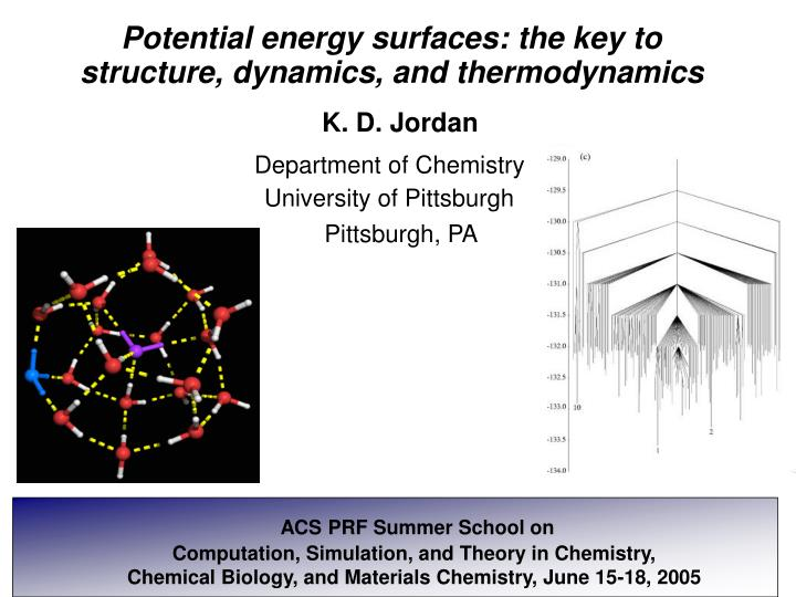 Potential energy surfaces: the key to structure, dynamics, and thermodynamics
