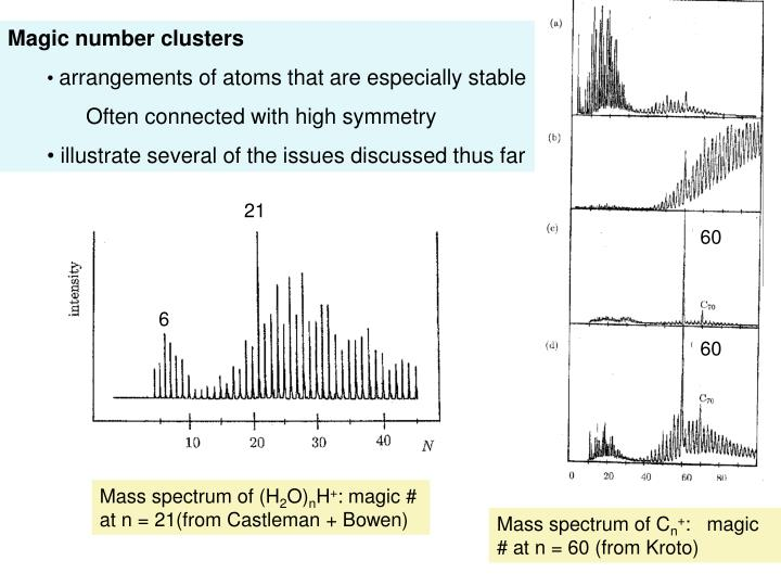 Magic number clusters