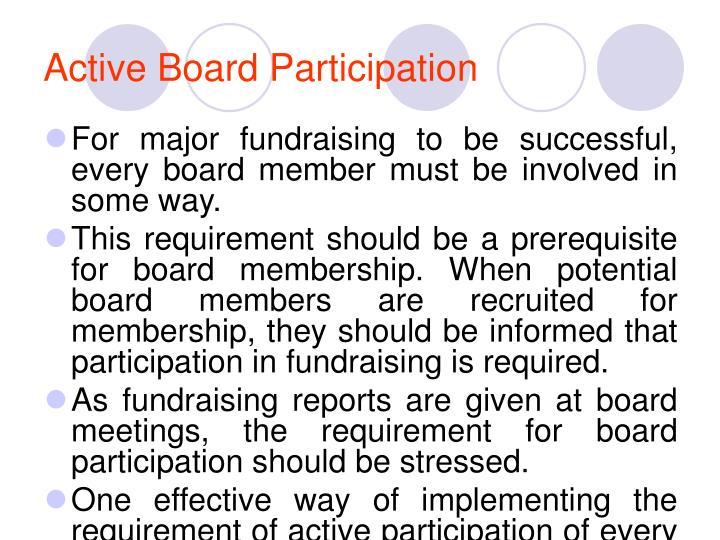 Active Board Participation