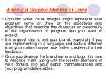 adding a graphic identity or logo