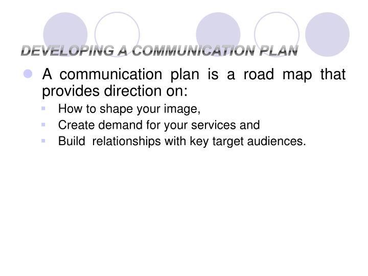 Developing a Communication Plan