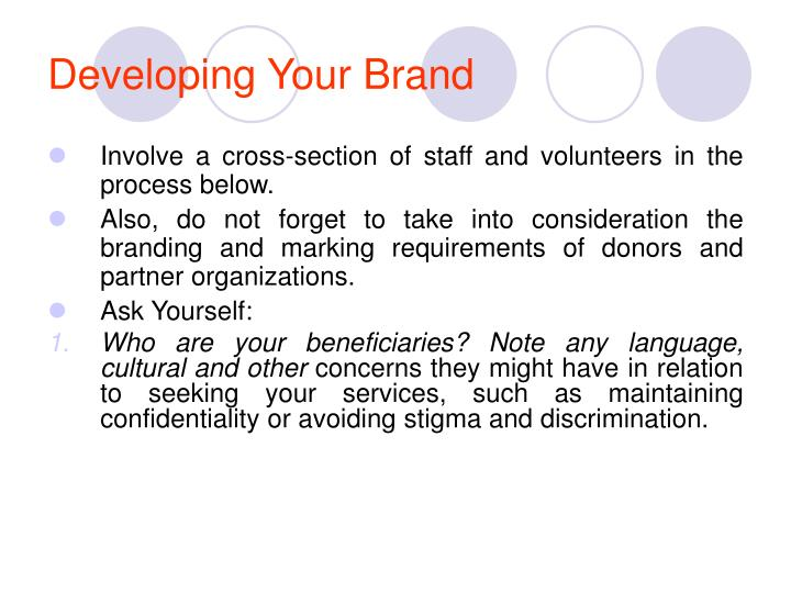 Developing Your Brand