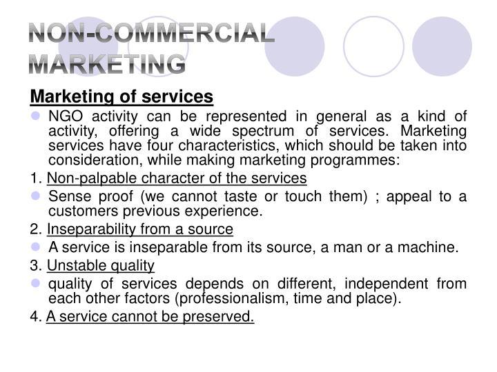 Non-Commercial Marketing