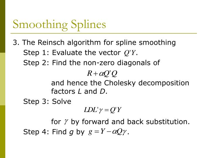 Smoothing Splines