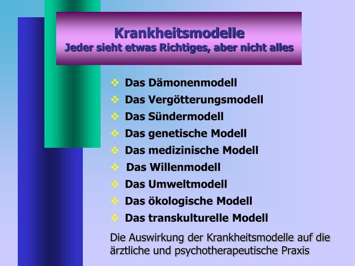 Krankheitsmodelle