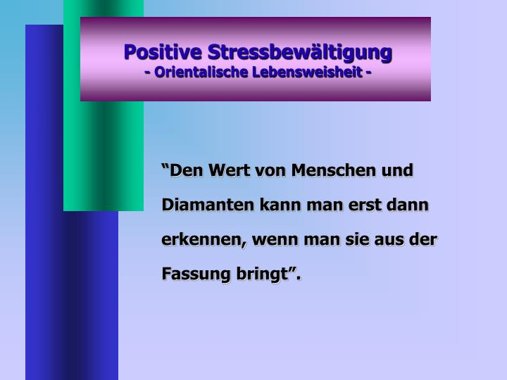 Positive Stressbewältigung