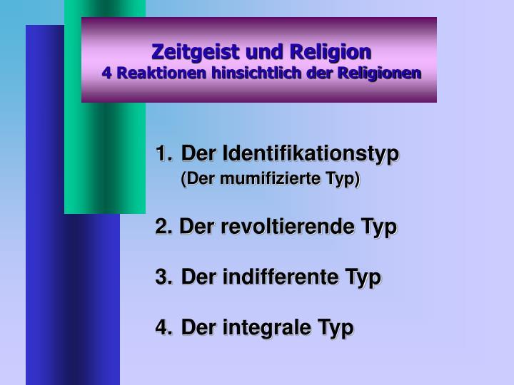 Zeitgeist und Religion