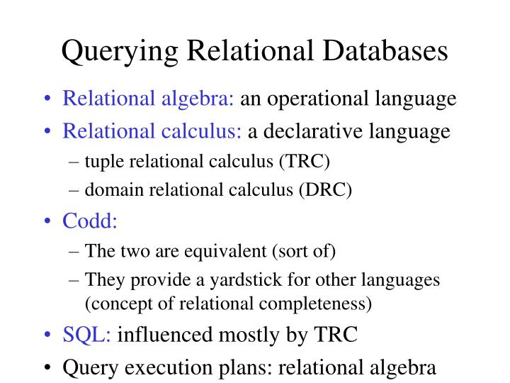 Querying Relational Databases