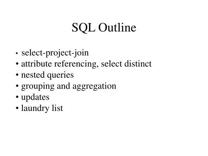 SQL Outline