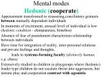 mental modes hedonic cooperate
