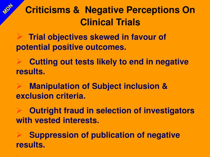 Criticisms &  Negative Perceptions On