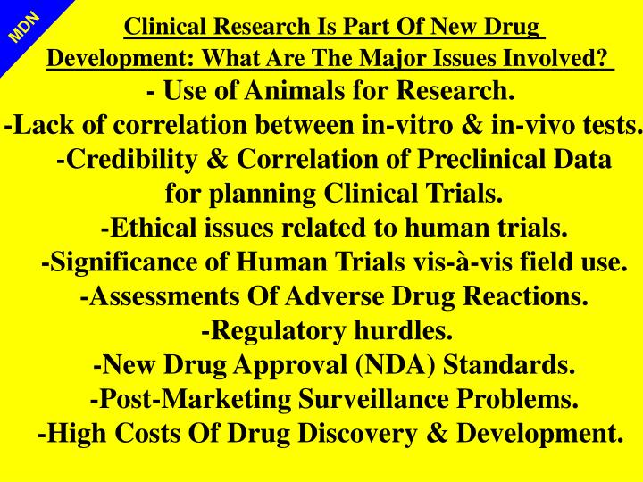 Clinical Research Is Part Of New Drug