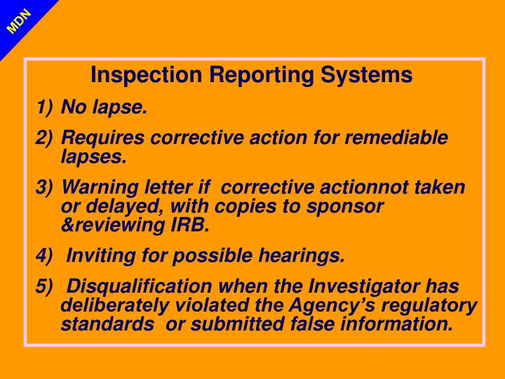 Inspection Reporting Systems