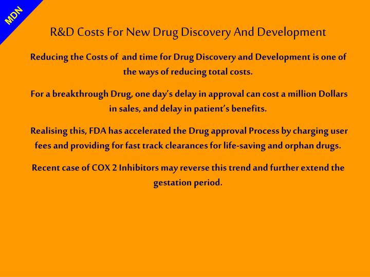 R&D Costs For New Drug Discovery And Development