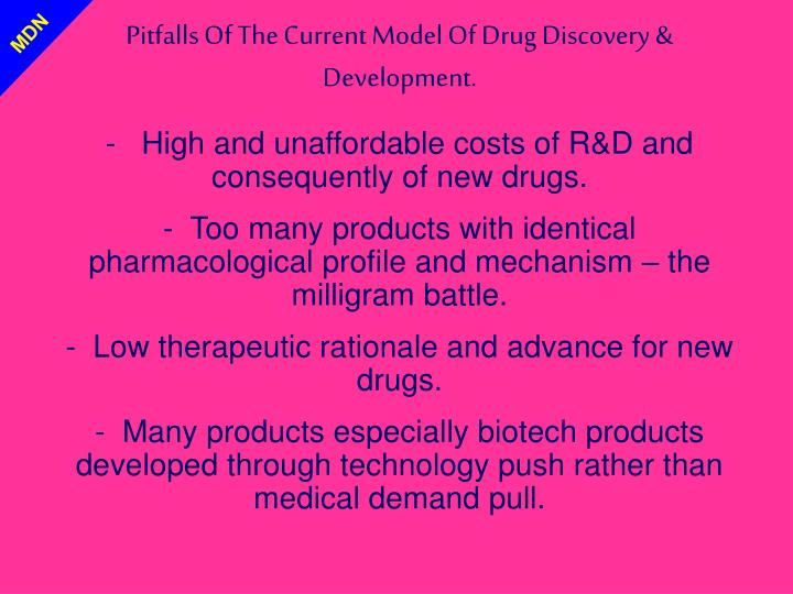 Pitfalls Of The Current Model Of Drug Discovery & Development.