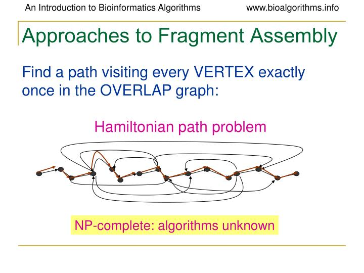 Approaches to Fragment Assembly