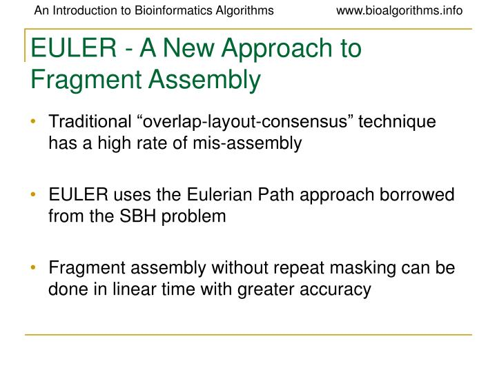 EULER - A New Approach to Fragment Assembly