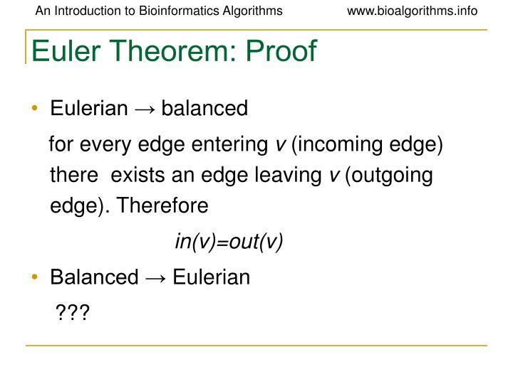 Euler Theorem: Proof