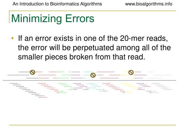 Minimizing Errors