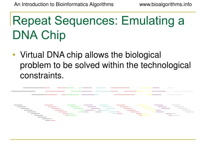 Repeat Sequences: Emulating a DNA Chip