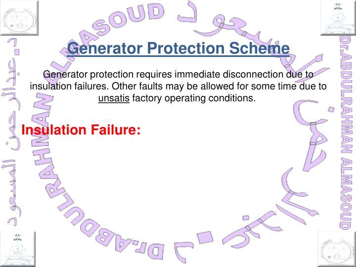 Generator Protection Scheme