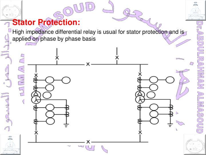 Stator Protection: