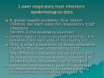 lower respiratory tract infections epidemiological data