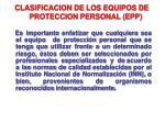 clasificacion de los equipos de proteccion personal epp