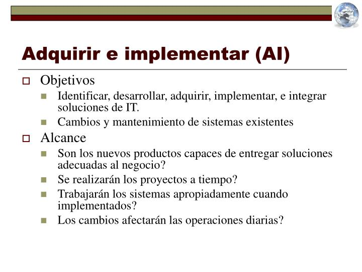 Adquirir e implementar (AI)