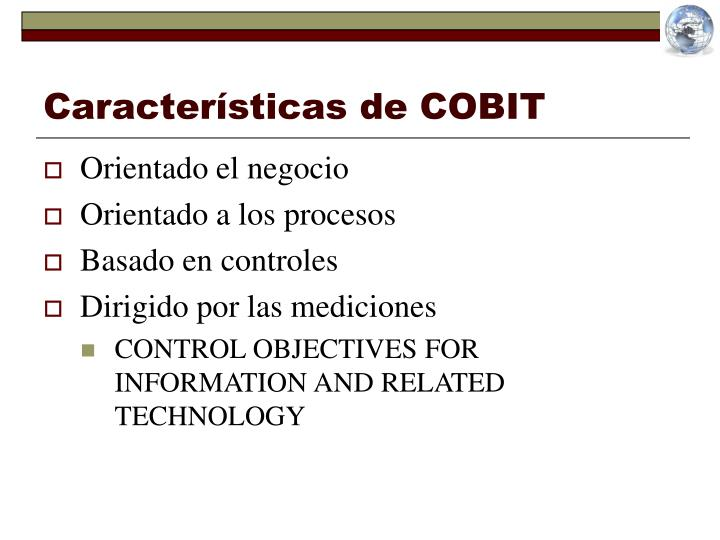 Características de COBIT