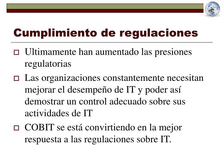 Cumplimiento de regulaciones