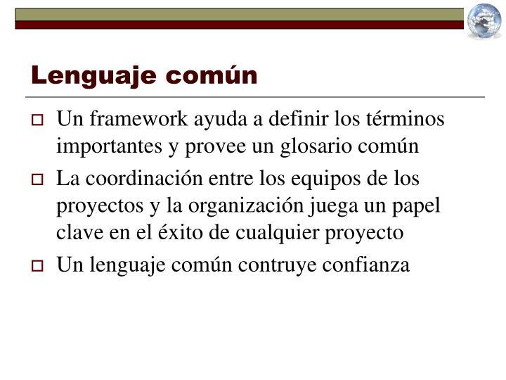Lenguaje común