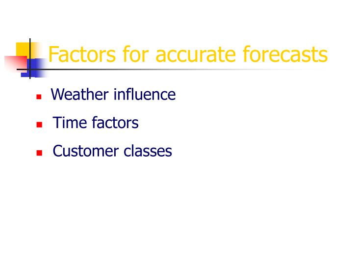 Factors for accurate forecasts