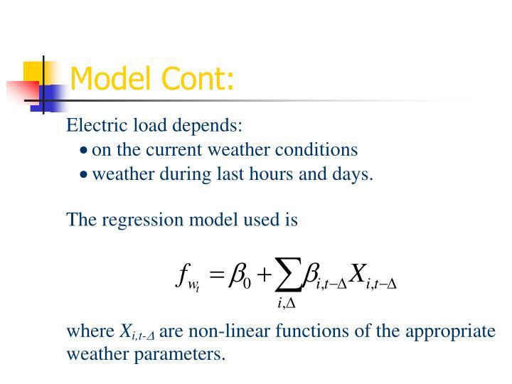 Model Cont: