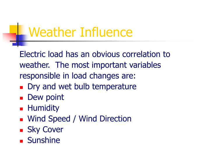 Weather Influence