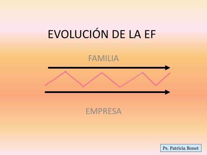 EVOLUCIÓN DE LA EF